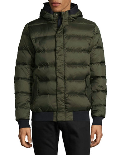 Scotch And Soda Quilted Bomber Jacket-GREEN-Medium
