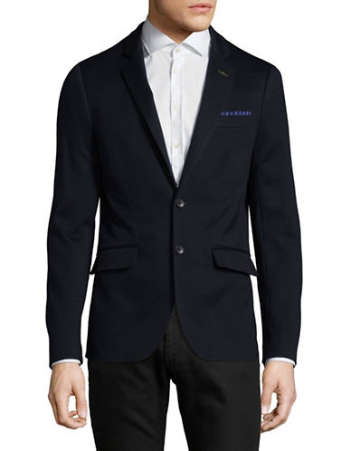 Scotch And Soda Classic Cotton Blazer-BLUE-Medium