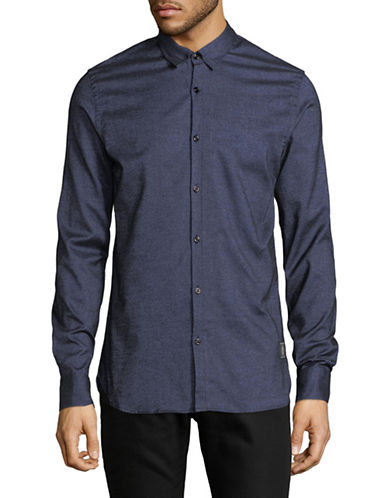 Scotch And Soda Classic Sport Shirt-BLUE-Large