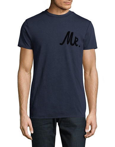 Scotch And Soda Mr Crew Neck Tee-BLUE-Medium