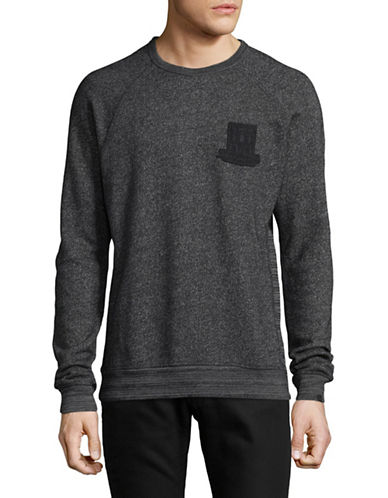 Scotch And Soda Raglan Cotton Sweater-GREY-Large