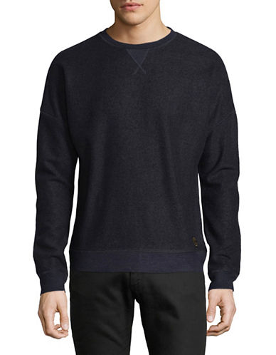 Scotch And Soda Crew Neck Sweatshirt-BLUE-Medium