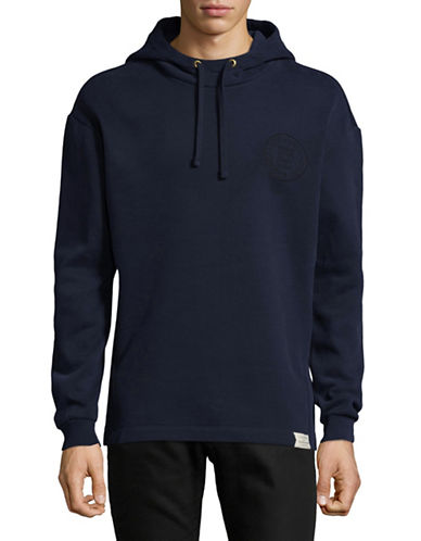 Scotch And Soda Long-Sleeve Pullover Hoodie-BLUE-Large