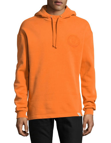 Scotch And Soda Long-Sleeve Pullover Hoodie-ORANGE-Small