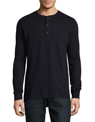 Scotch And Soda Cotton Henley-BLUE-Small