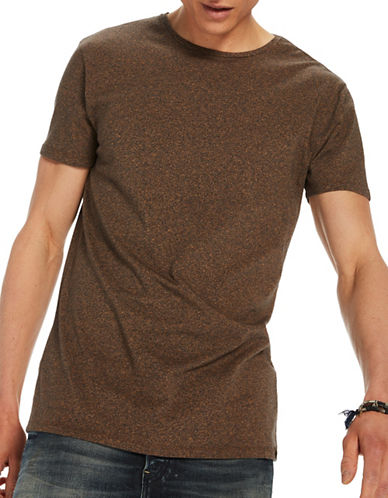 Scotch And Soda Classic Crew Neck Tee-BROWN-Small