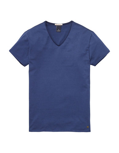 Scotch And Soda Classic V-Neck Tee-BLUE-XX-Large