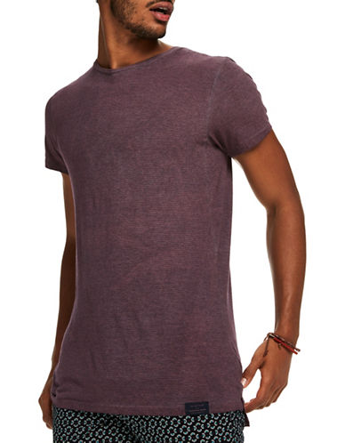Scotch And Soda Classic Short Sleeve Cotton Tee-PURPLE-XX-Large