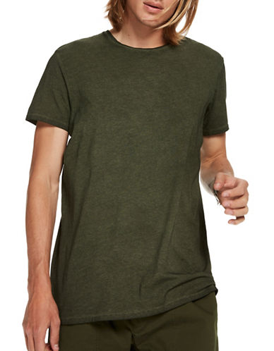 Scotch And Soda Classic Short Sleeve Cotton Tee-GREEN-Large