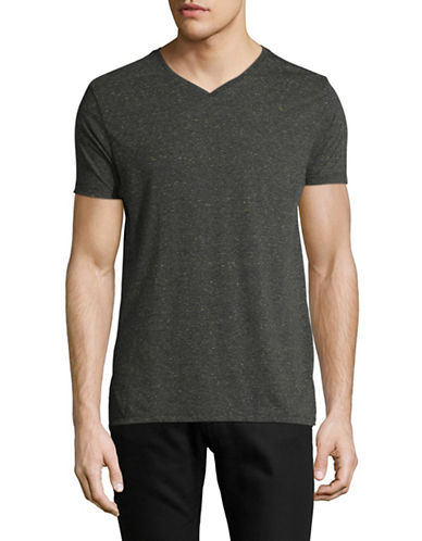 Scotch And Soda Heathered V-Neck Tee-GREY-Medium