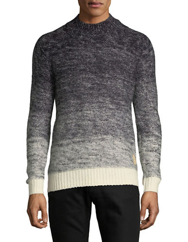 Scotch And Soda Ombre Crew Neck Pullover-GREY-Medium