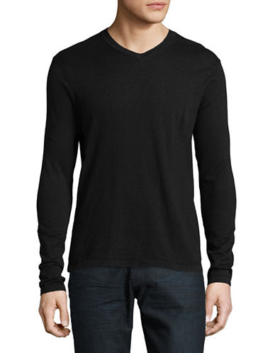 Scotch And Soda V-Neck Pullover-BLUE-X-Large