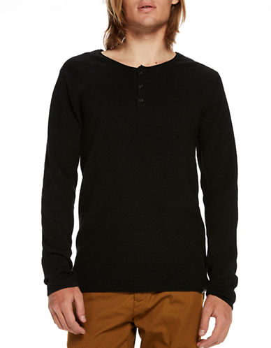 Scotch And Soda Grandad Pullover Henley-GREY-Medium