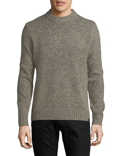 Scotch And Soda Crew Neck Wool-Blend Pullover-GREY-Large