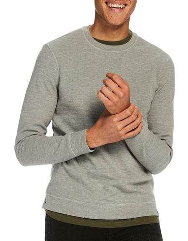 Scotch And Soda Classic Crew Neck Sweatshirt-GREY-Large