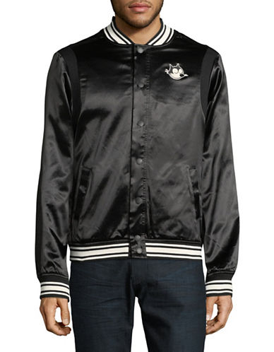 Scotch And Soda Felix Ams Blauw Bomber Jacket-BLACK-Small