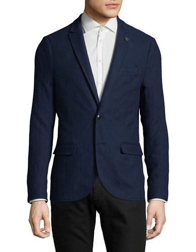 Scotch And Soda Unlined Cotton Suit Jacket-BLUE-X-Large