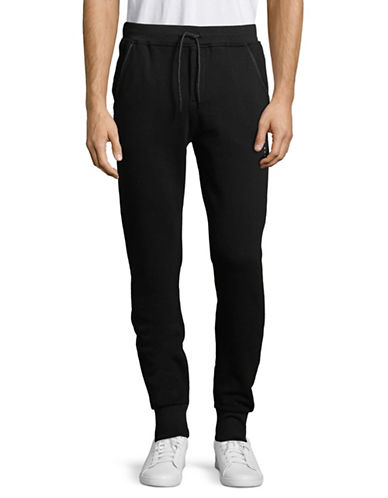 Scotch And Soda Club Nomade Sweatpants-BLACK-Large 89870204_BLACK_Large