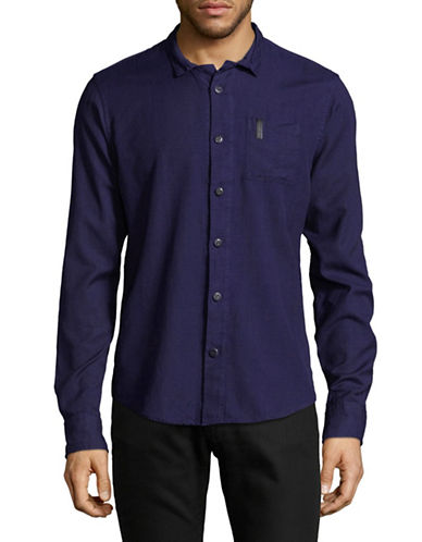 Scotch And Soda Clean Oxford Sport Shirt-BLUE-Medium