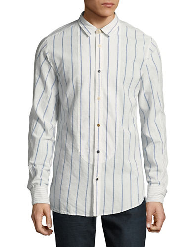 Scotch And Soda Mixed-Fabric Sport Shirt-MULTI-XX-Large
