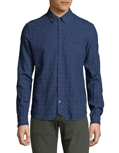 Scotch And Soda Allover Printed Sport Shirt-MULTI-COLOURED-Large