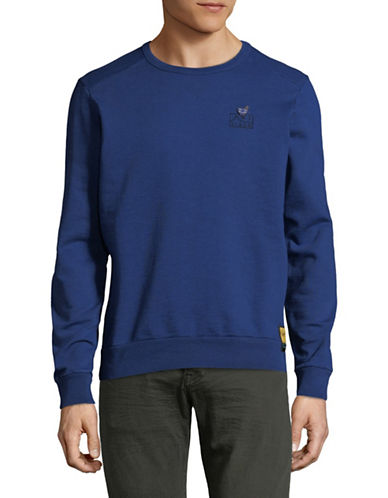 Scotch And Soda Garment Dyed Cotton Sweater-BLUE-Small 89870256_BLUE_Small
