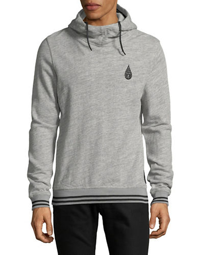 Scotch And Soda Embroidered Graphic Hoodie-GREY-Large