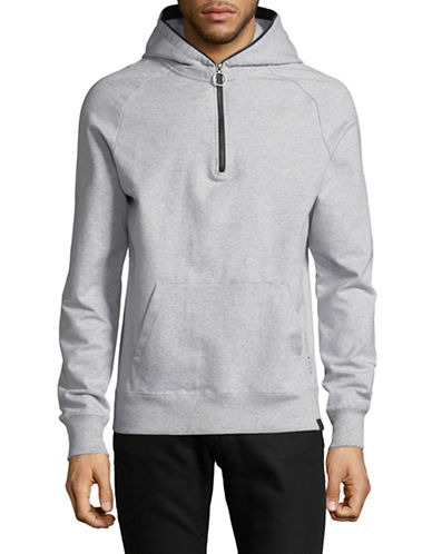 Scotch And Soda Club Nomade Hoodie-GREY-Small