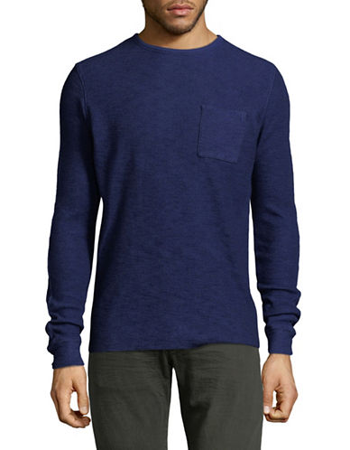 Scotch And Soda Long-Sleeve Pocket T-Shirt-BLUE-XX-Large