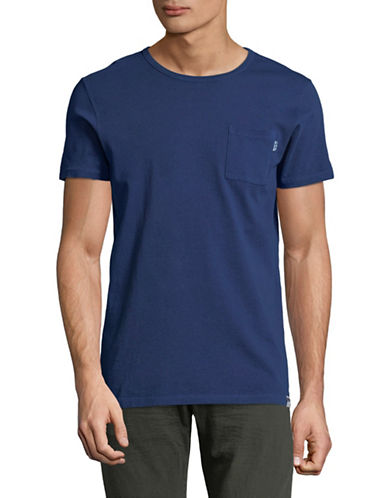 Scotch And Soda Garment Dyed T-Shirt-BLUE-XX-Large