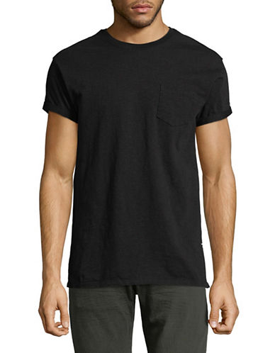 Scotch And Soda Club Nomade Cotton T-Shirt-BLACK-X-Large
