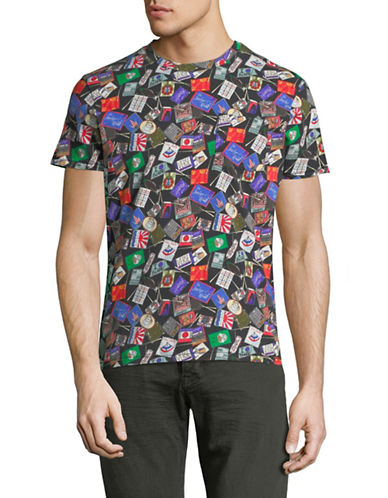 Scotch And Soda Allover Printed T-Shirt-MULTI-XX-Large