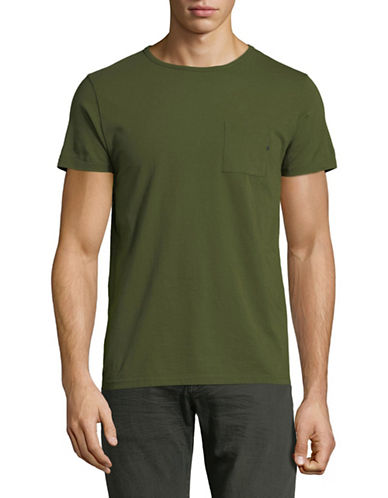 Scotch And Soda Pocket Cotton T-Shirt-GREEN-X-Large