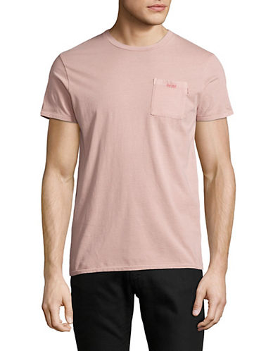 Scotch And Soda Artwork Cotton T-Shirt-PINK-Medium 89982542_PINK_Medium