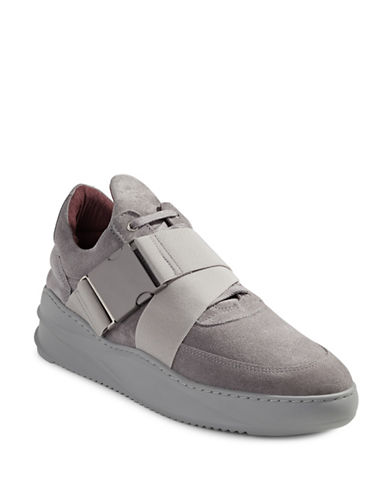 Filling Pieces Low Top Kato Suede Sneakers-GREY-41
