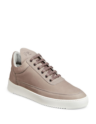 Filling Pieces Lane Leather Sneakers-LIGHT GREY-40