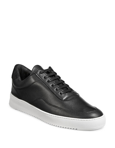 Filling Pieces Ripple Leather Sneakers-BLACK-43