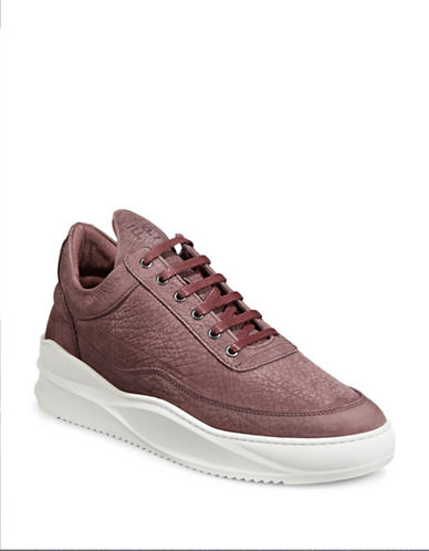 Filling Pieces Sky Leather Sneakers-RED-43