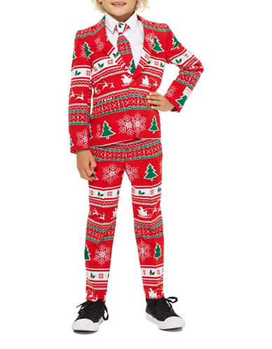Opposuits Slim-Fit Winter Wonderland Suit-RED-4
