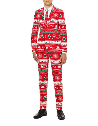 Opposuits Slim-Fit Winter Wonderland Suit-RED-12