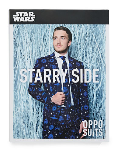 Opposuits Starry Side Three-Piece Slim-Fit Suit Set-BLUE-42 Regular
