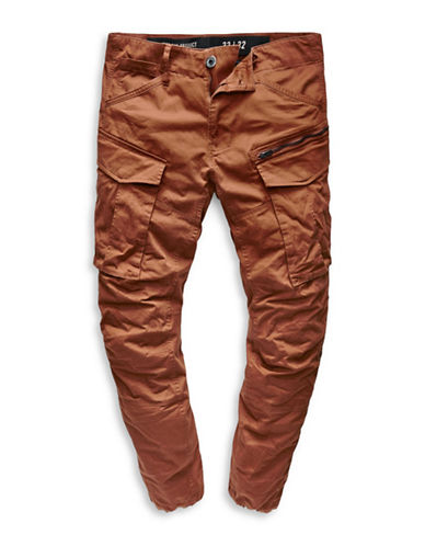 G-Star Raw Rovic Zip 3D Tapered Cargo Pants-RED-33X32