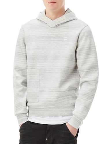 G-Star Raw Striped Hooded Sweatshirt-WHITE-X-Large