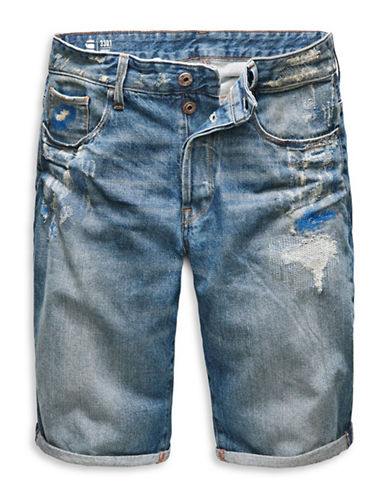 G-Star Raw Tobe Denim Shorts-BLUE-31