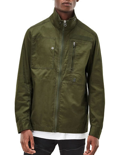 G-Star Raw Powel Long Sleeve Premium Twill Jacket-GREEN-X-Small 89207256_GREEN_X-Small