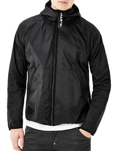 G-Star Raw Zip-Front Hooded Jacket-BLACK-Large