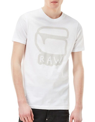 G-Star Raw Short Sleeve Cotton Tee-WHITE-X-Small 89226213_WHITE_X-Small