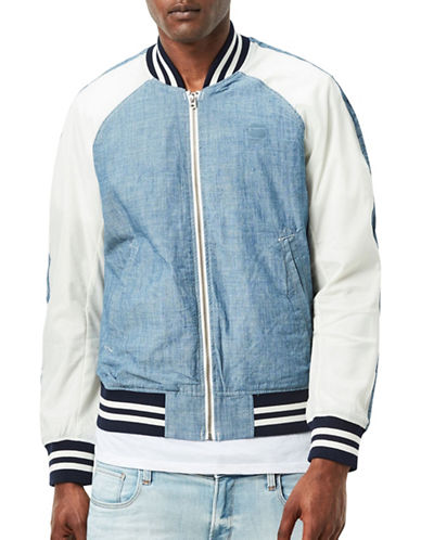 G-Star Raw Batt US Tour Bomber Jacket-BLUE-Medium