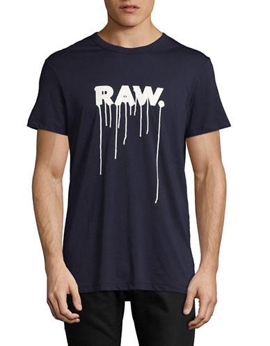 G-Star Raw Daefon R T Jersey T-Shirt-DARK BLUE-X-Small