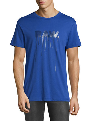 G-Star Raw Daefon R T Jersey T-Shirt-BLUE-Large